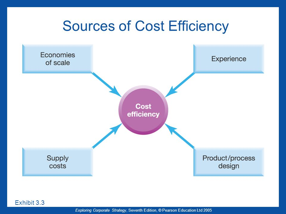Sources of Cost Efficiency