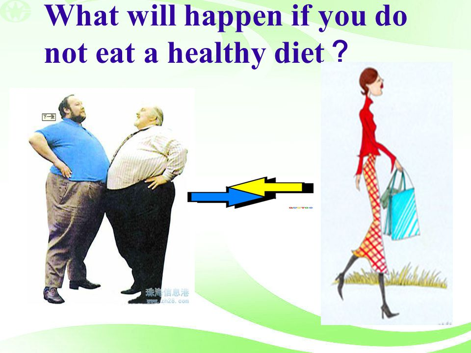What will happen if you do not eat a healthy diet?