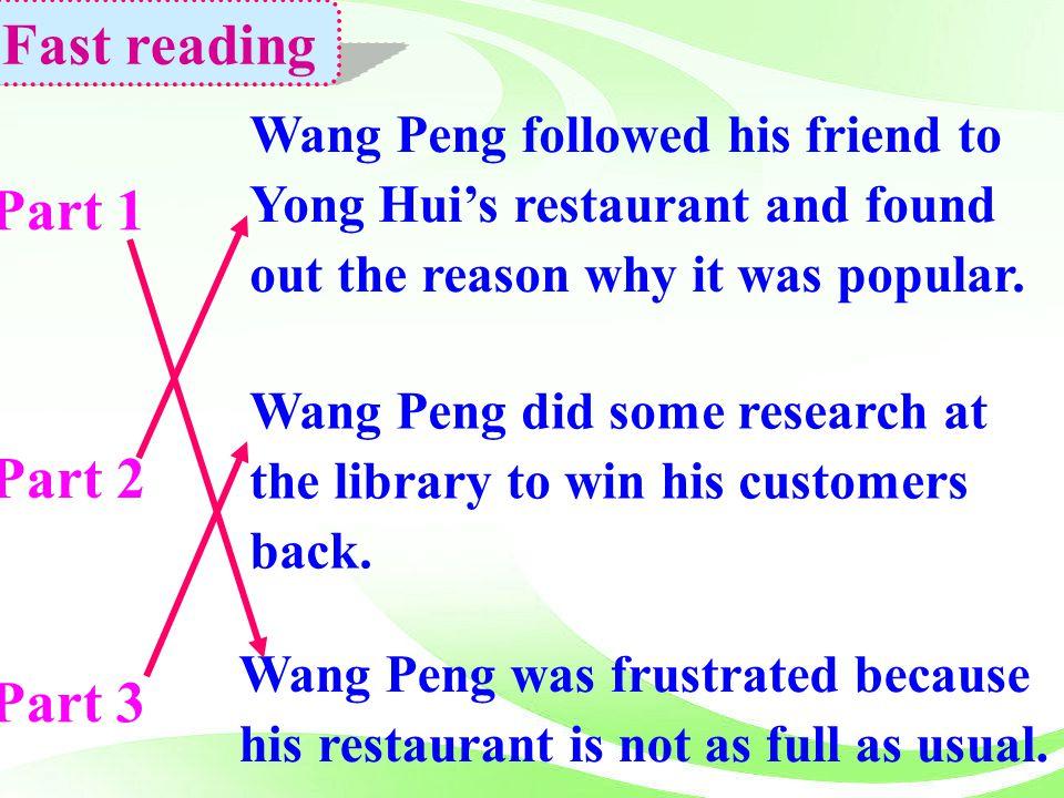 Fast reading Part 1 Part 2 Part 3