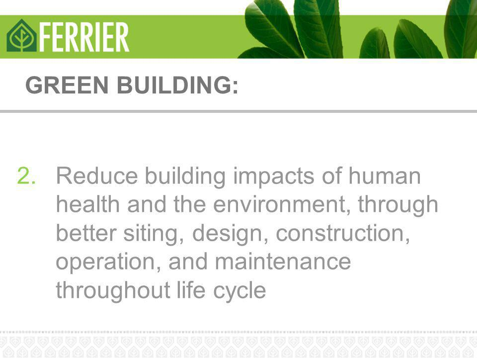 GREEN BUILDING:
