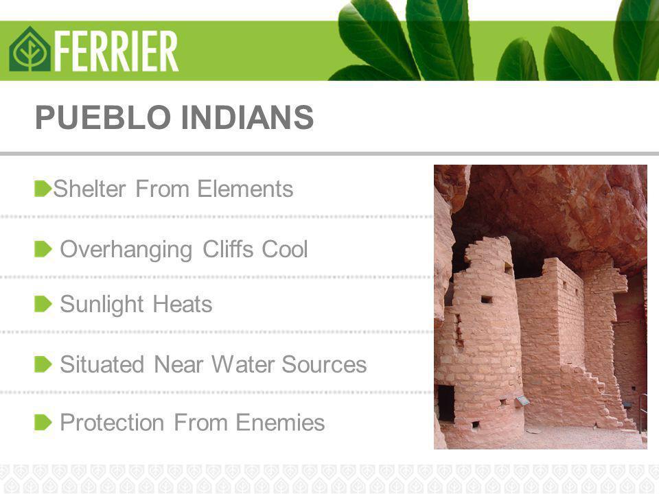 PUEBLO INDIANS Shelter From Elements Overhanging Cliffs Cool