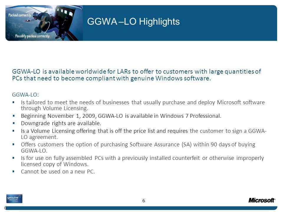 GGWA –LO Highlights