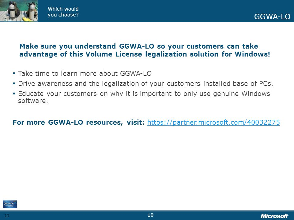 Take time to learn more about GGWA-LO