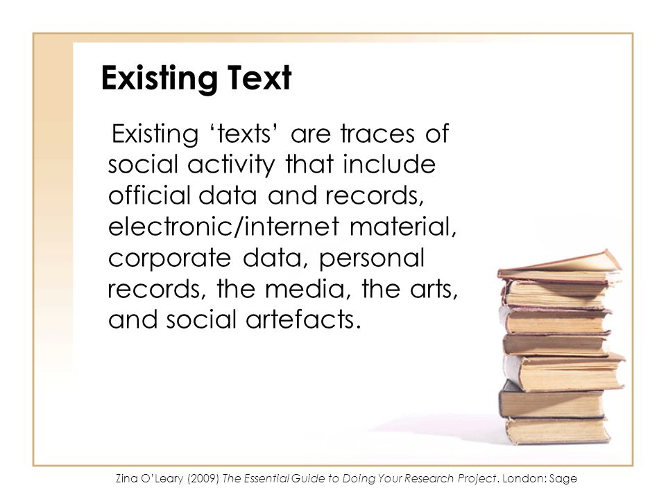 Existing Text