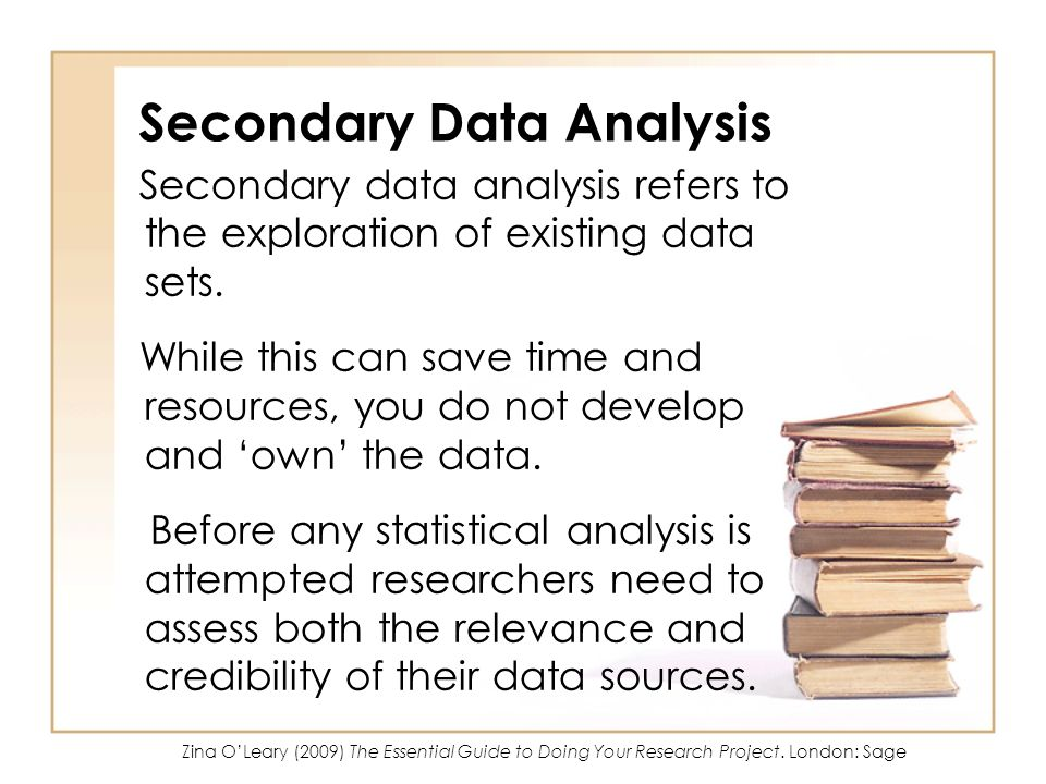 Secondary Data Analysis