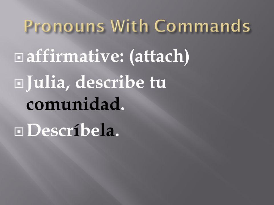 Pronouns With Commands