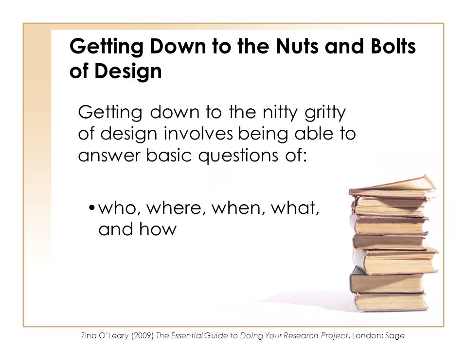 Getting Down to the Nuts and Bolts of Design