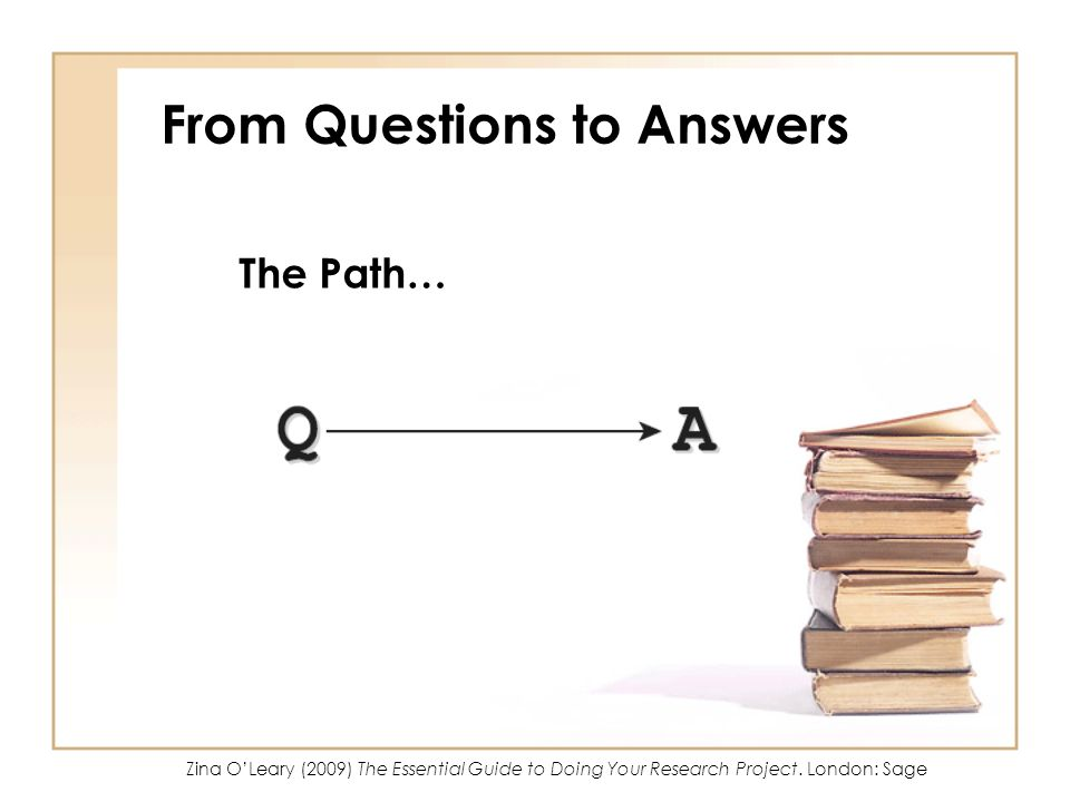 From Questions to Answers
