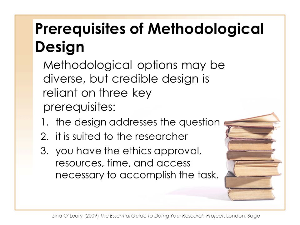 Prerequisites of Methodological Design
