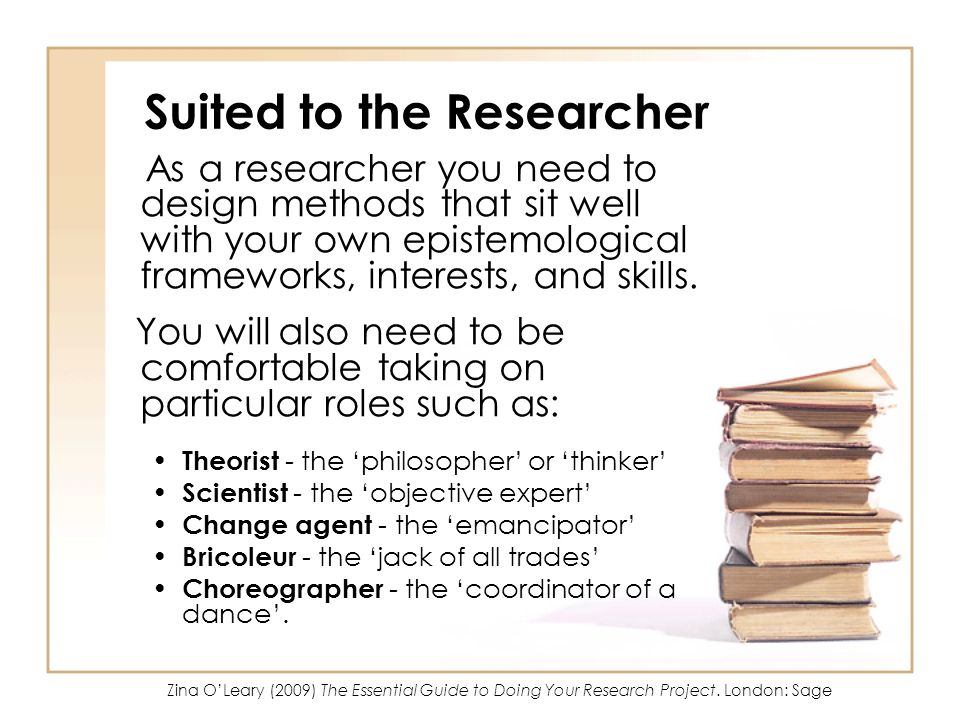 Suited to the Researcher