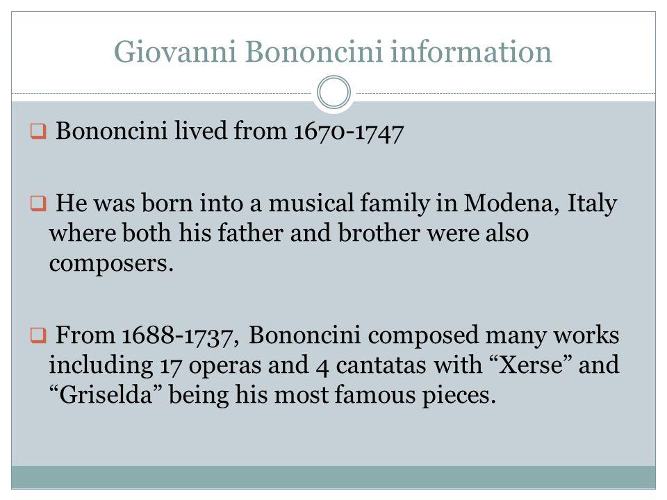 Giovanni Bononcini information