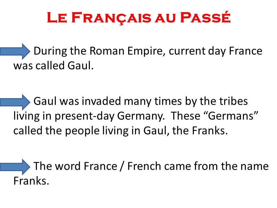 Le Français au Passé