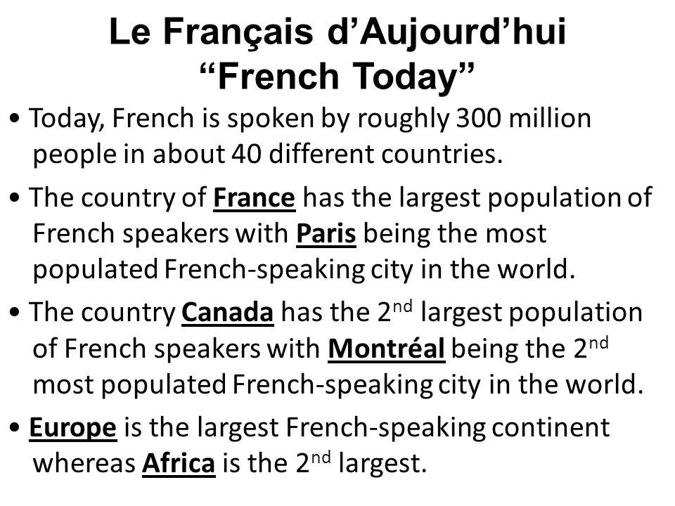 Le Français d'Aujourd'hui French Today