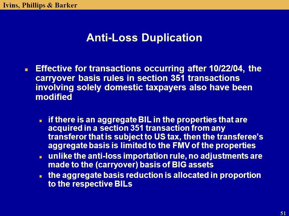 Anti-Loss Duplication