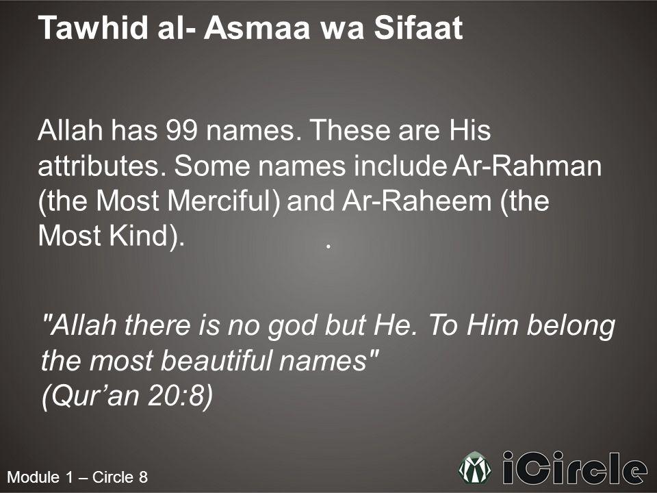 Tawhid al- Asmaa wa Sifaat