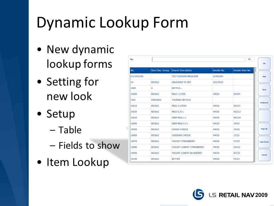 Dynamic Lookup Form New dynamic lookup forms Setting for new look