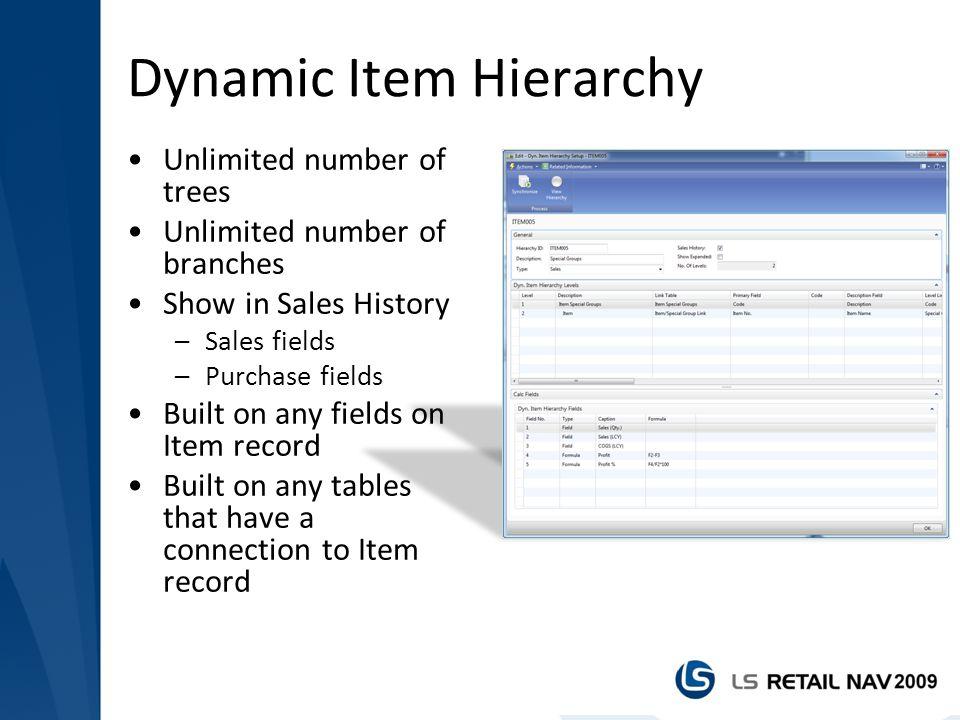 Dynamic Item Hierarchy