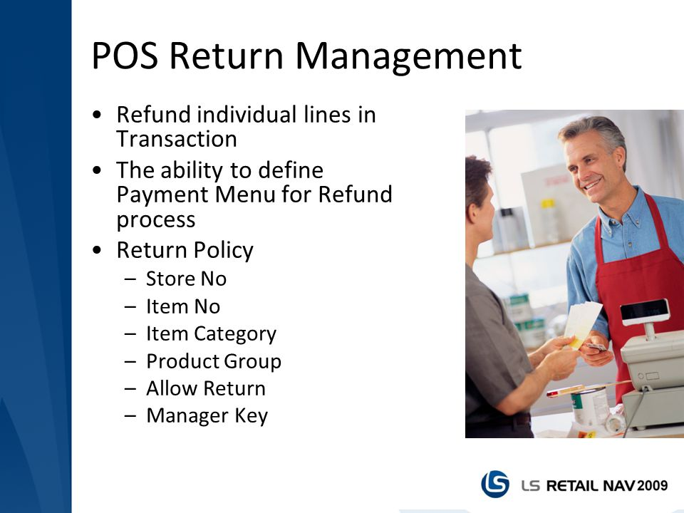 POS Return Management Refund individual lines in Transaction