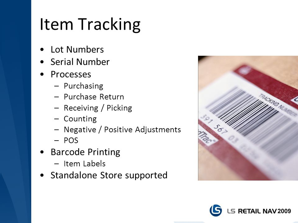 Item Tracking Lot Numbers Serial Number Processes Barcode Printing