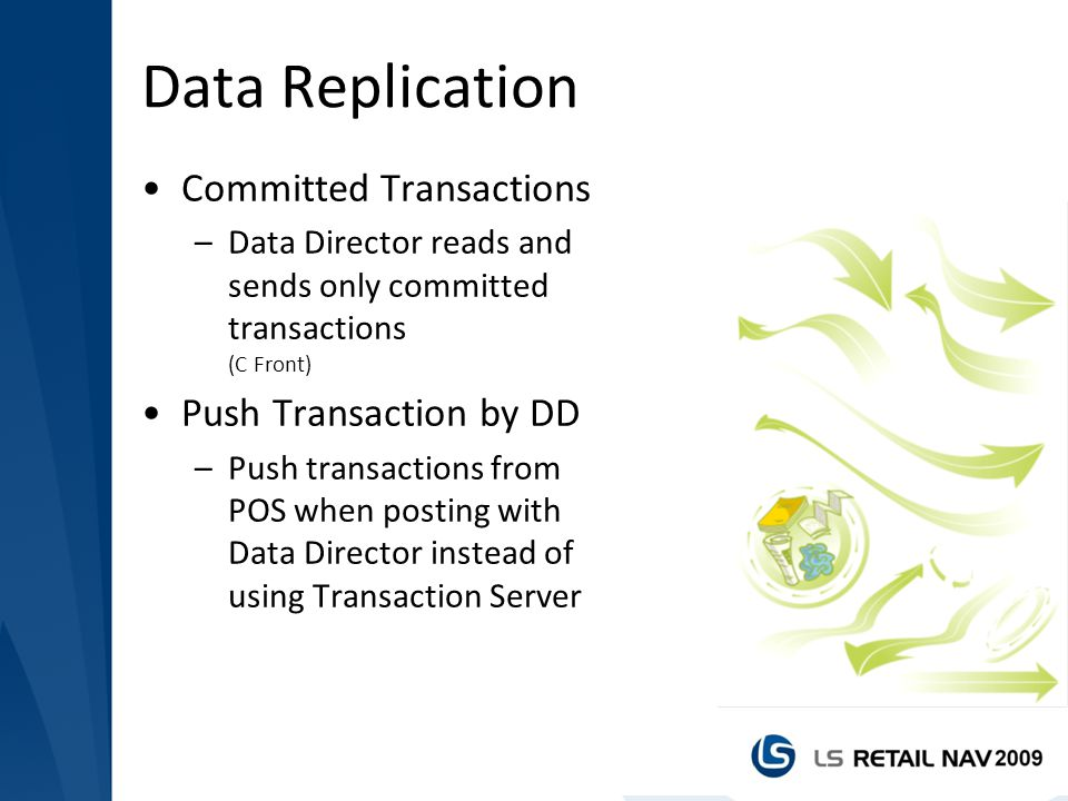 Data Replication Committed Transactions Push Transaction by DD