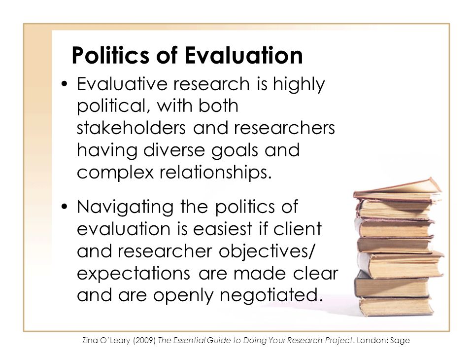 Politics of Evaluation