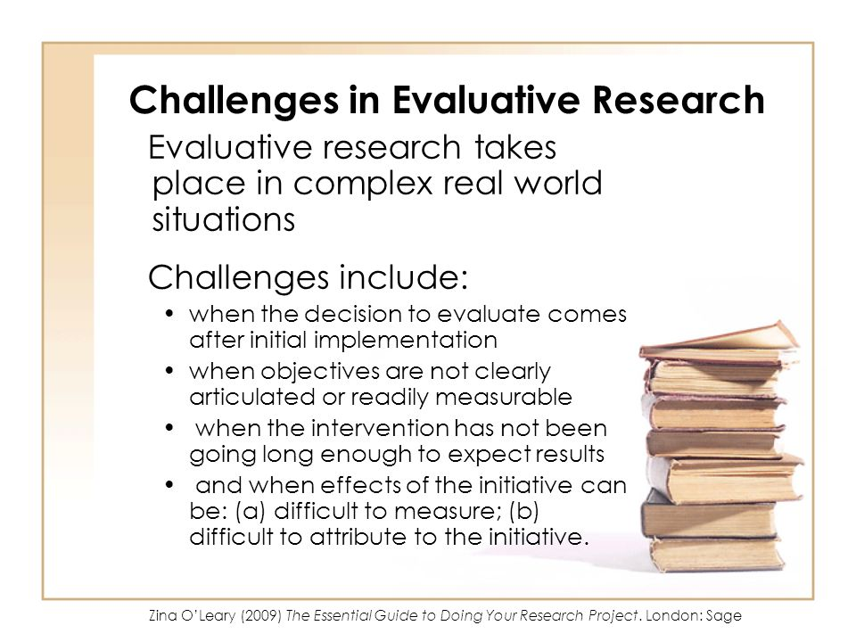 Challenges in Evaluative Research