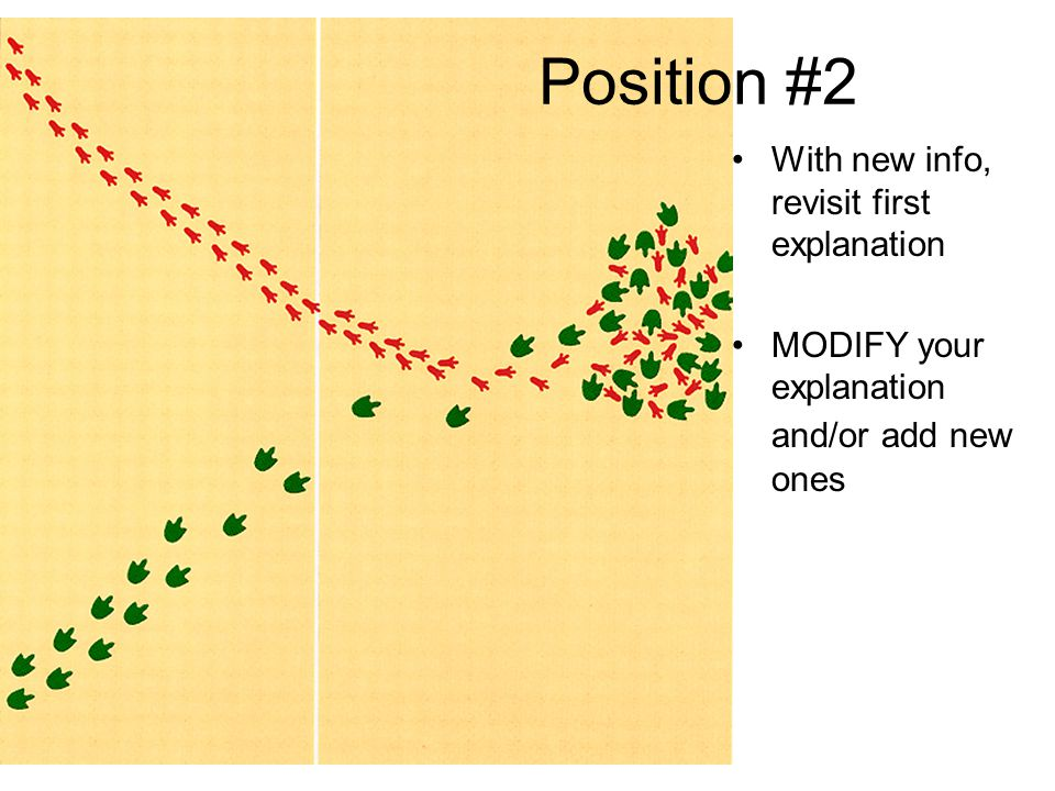 Position #2 With new info, revisit first explanation
