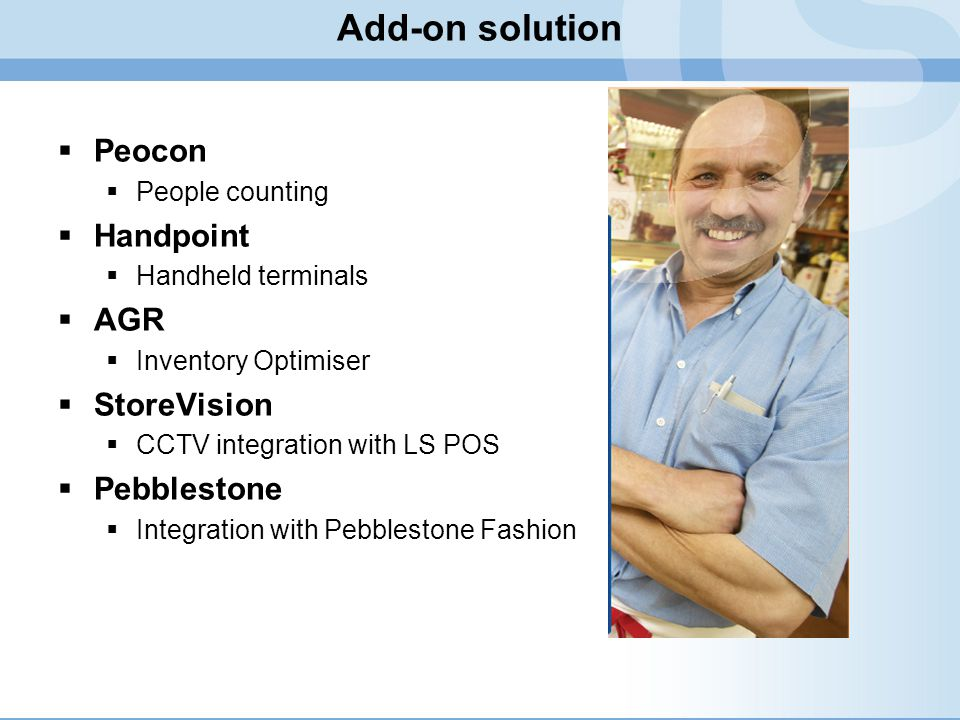 Add-on solution Peocon Handpoint AGR StoreVision Pebblestone