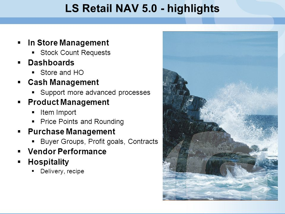 LS Retail NAV 5.0 - highlights