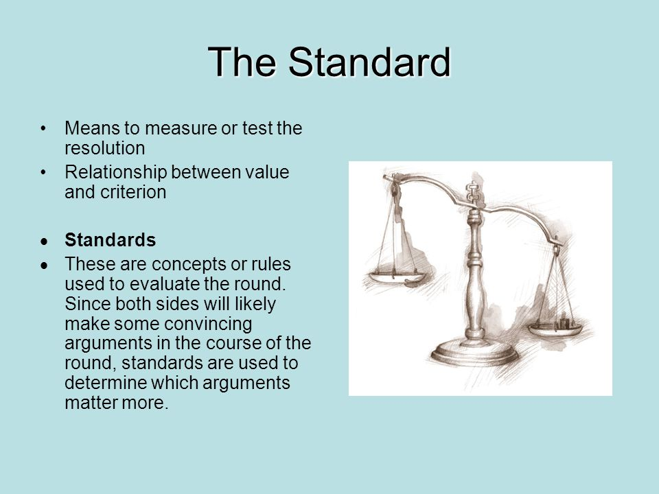 The Standard Means to measure or test the resolution