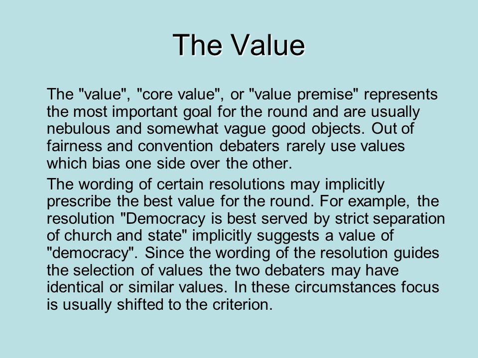 The Value