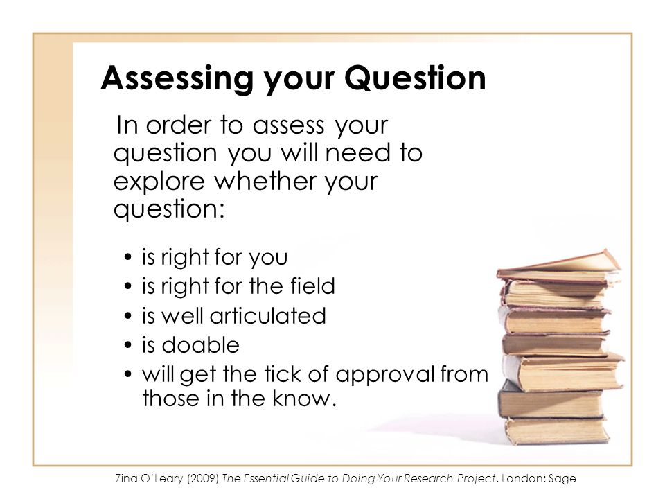 Assessing your Question