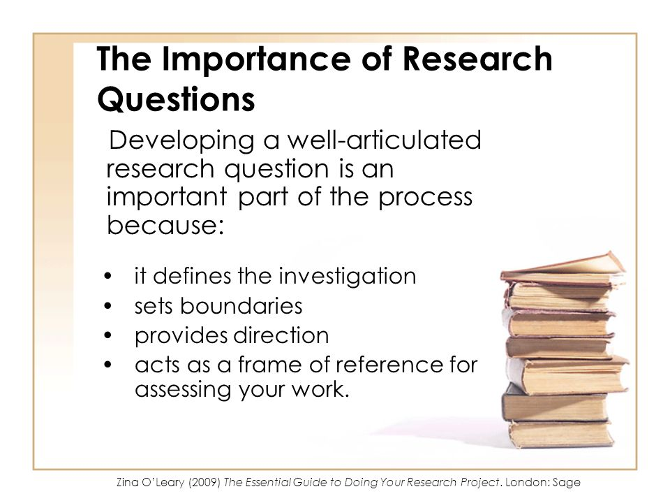 The Importance of Research Questions