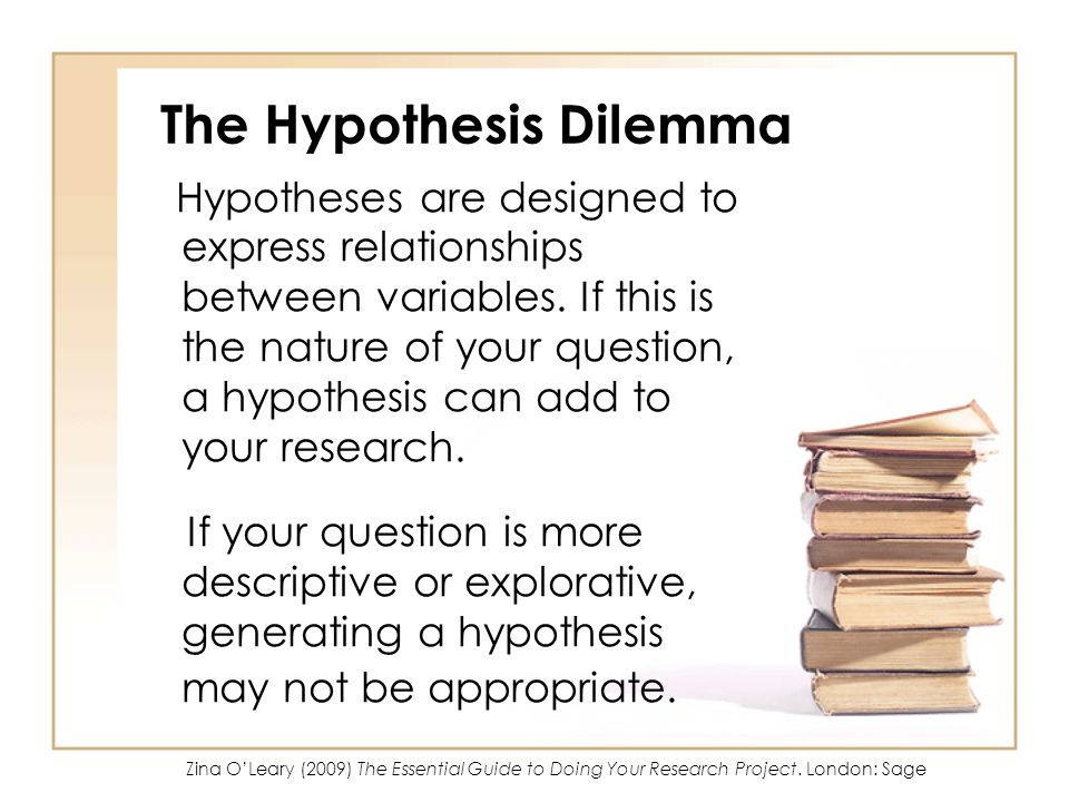 The Hypothesis Dilemma