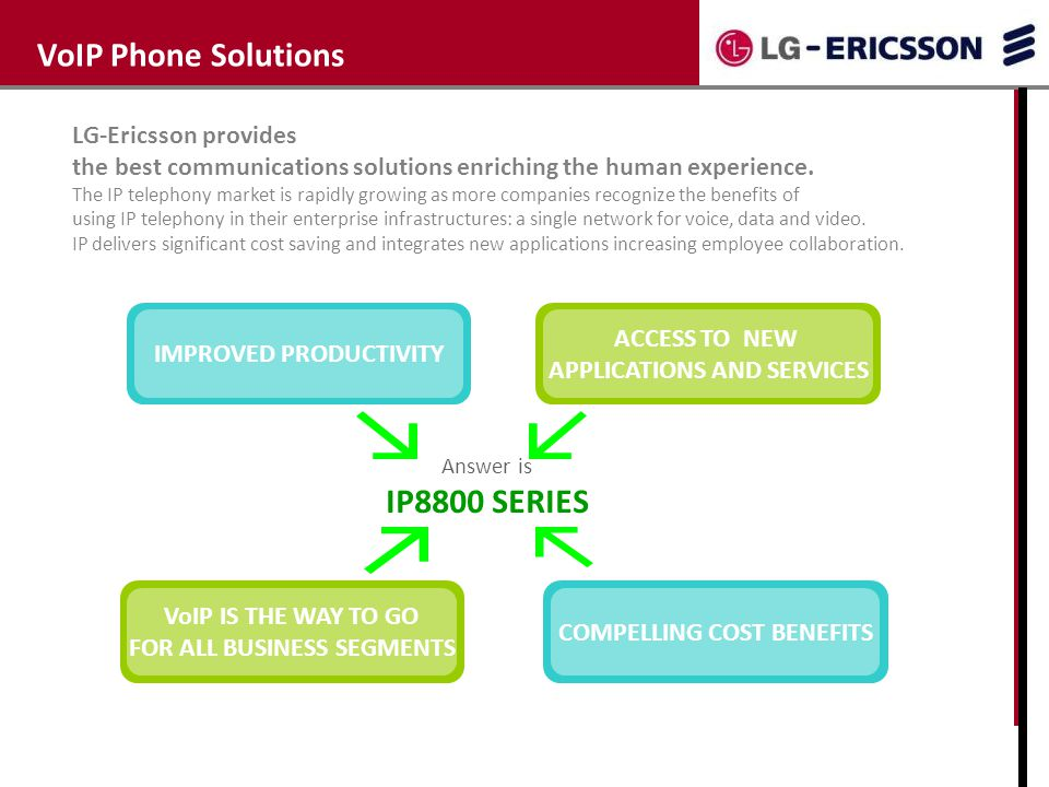 VoIP Phone Solutions Why IP telephony IP8800 SERIES