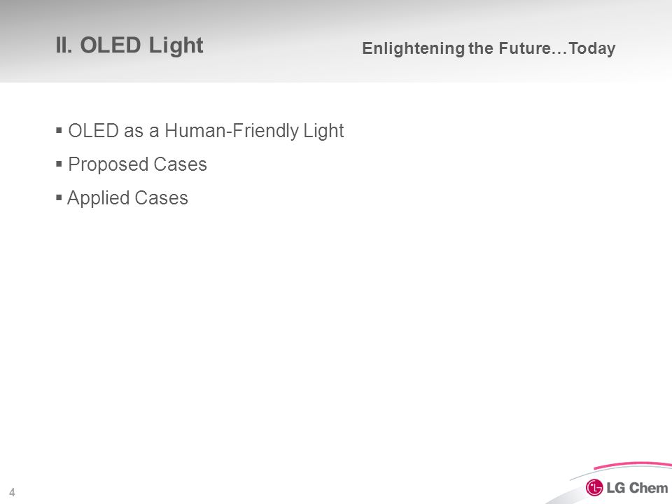 OLED as a 'Human-Friendly' Light