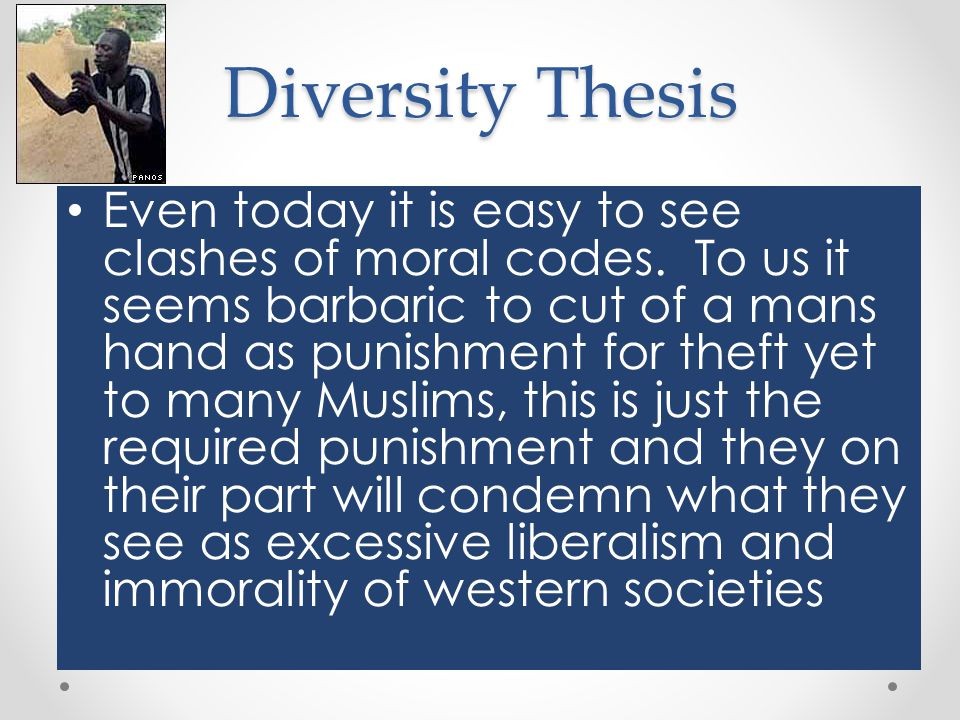 Diversity Thesis