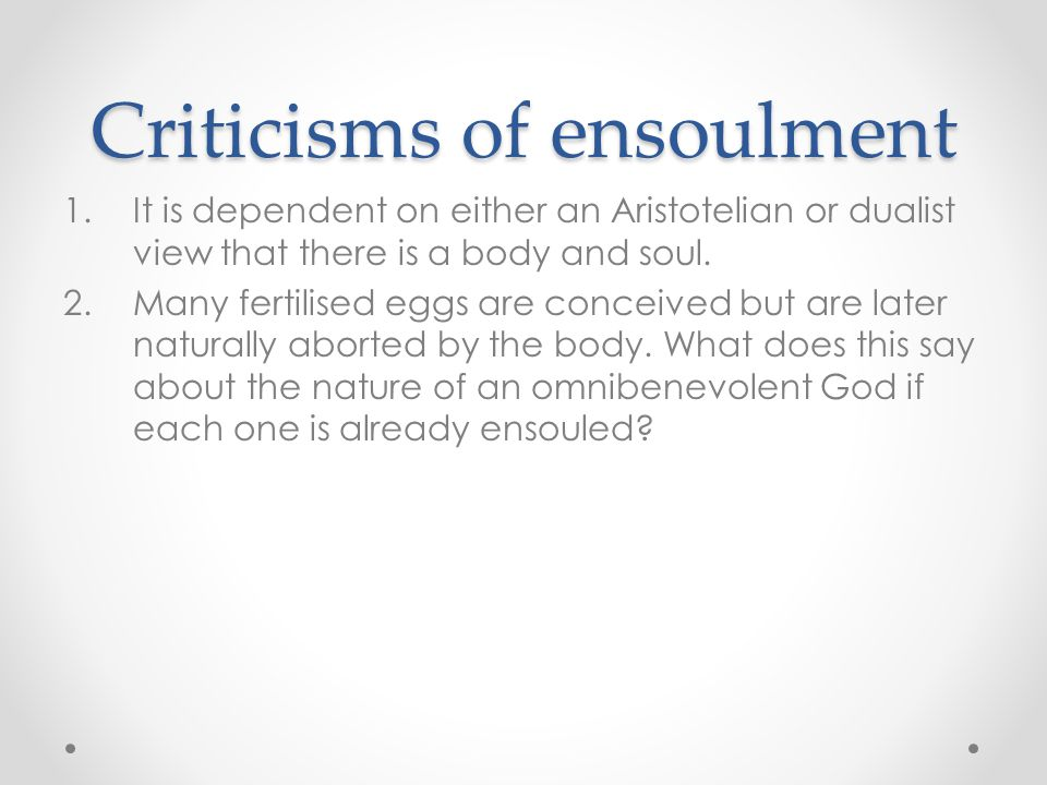 Criticisms of ensoulment