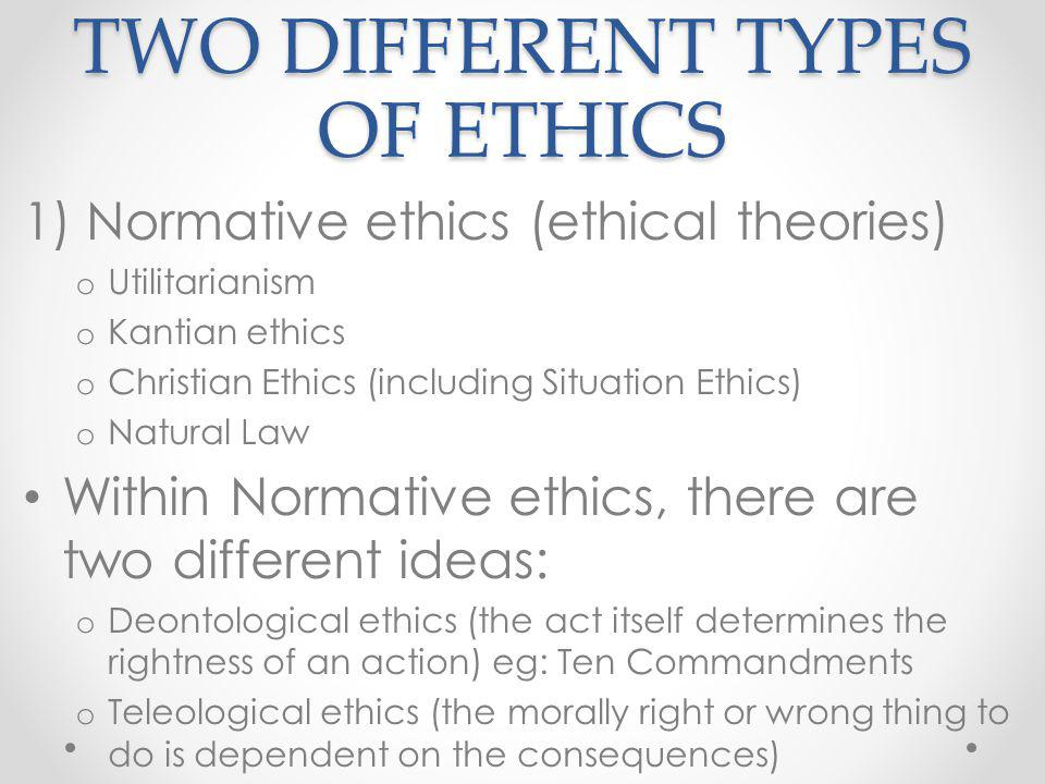 normative ethics utilitarianism and deontological