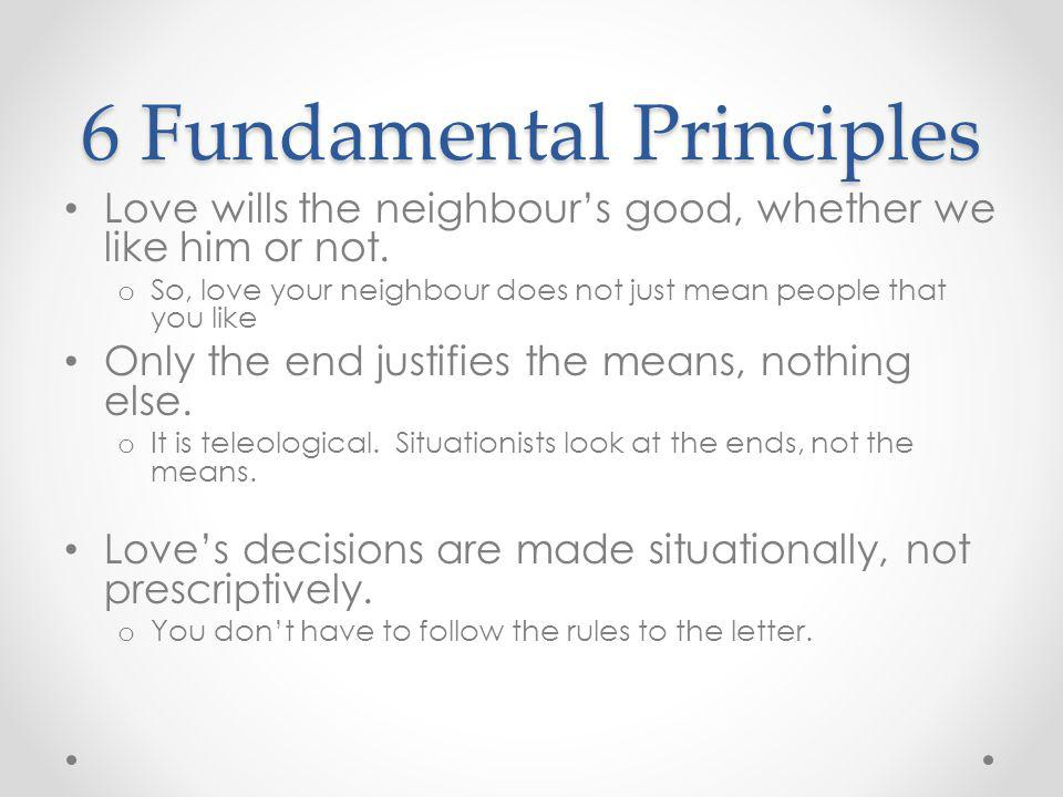 6 Fundamental Principles