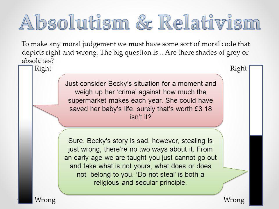 Absolutism & Relativism
