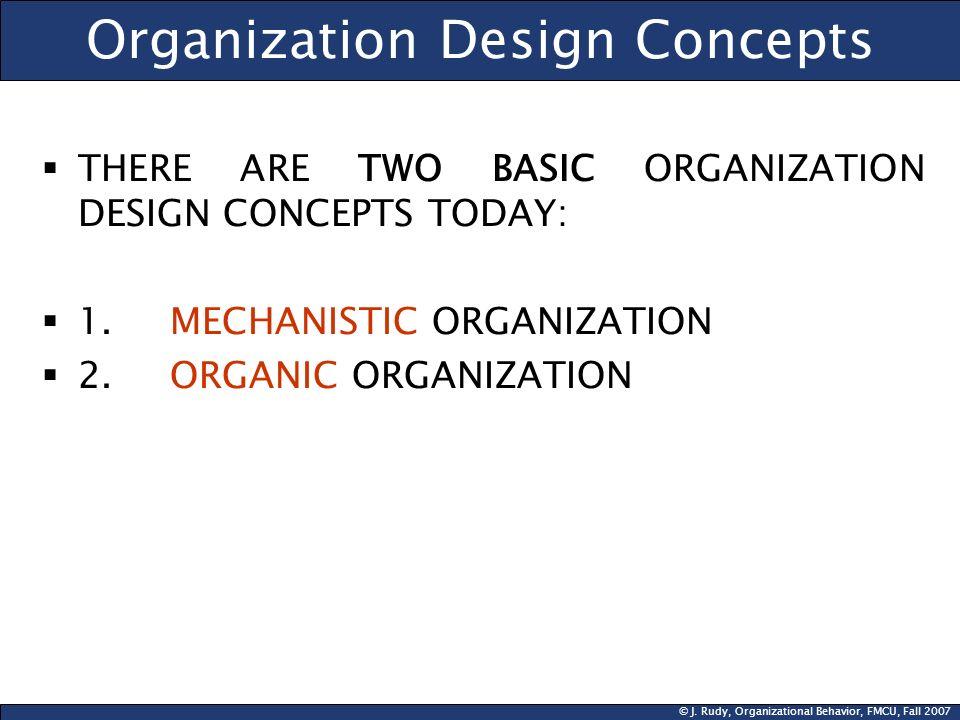 Organization Design Concepts