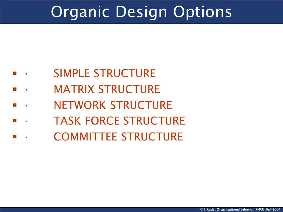 Organic Design Options