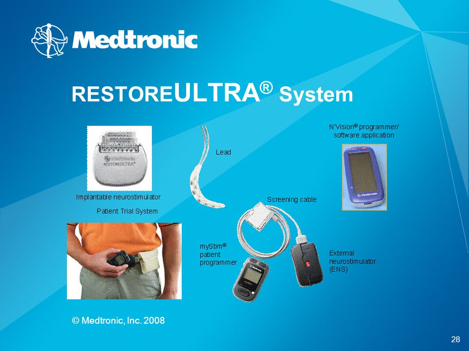RESTOREULTRA® System © Medtronic, Inc. 2008