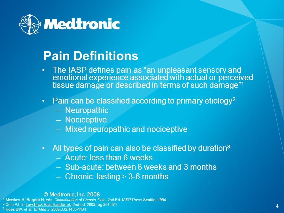 Pain Definitions