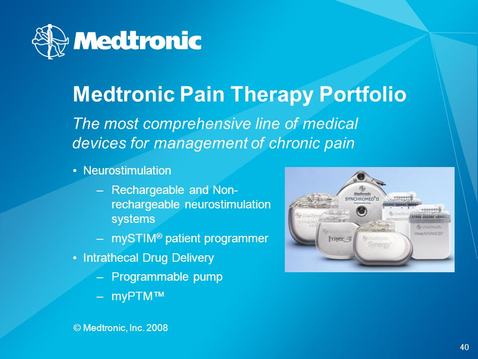 Medtronic Pain Therapy Portfolio