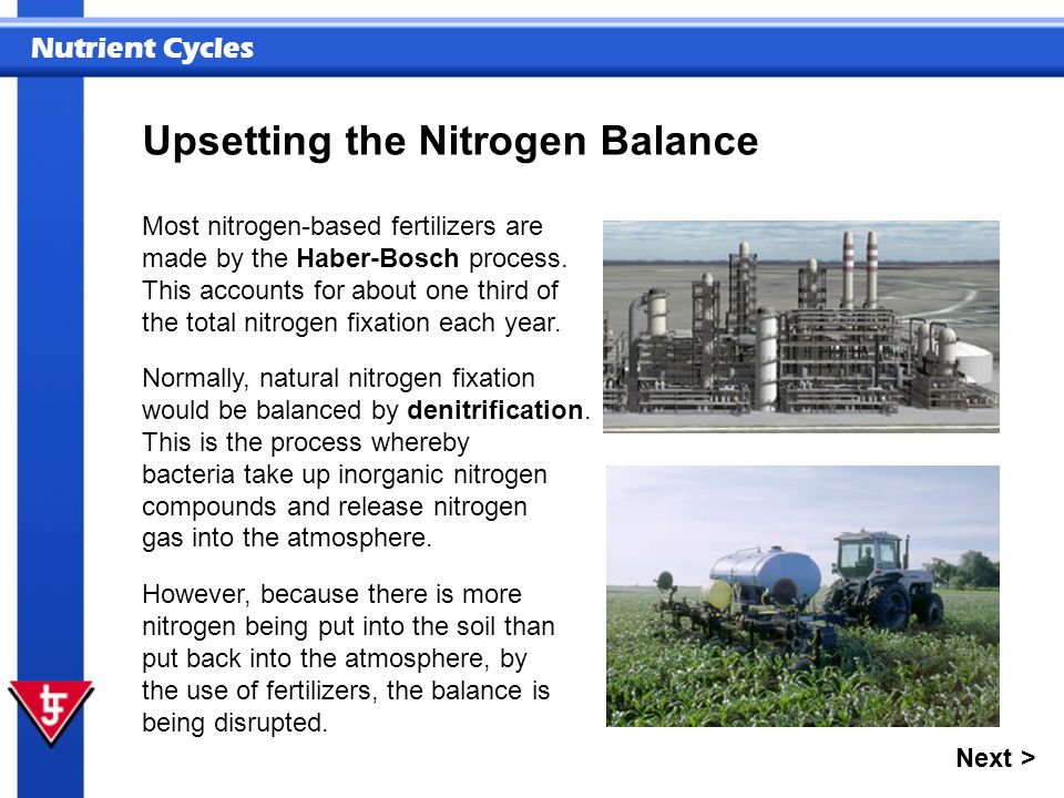 Upsetting the Nitrogen Balance