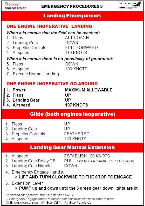 Glide (both engines inoperative)