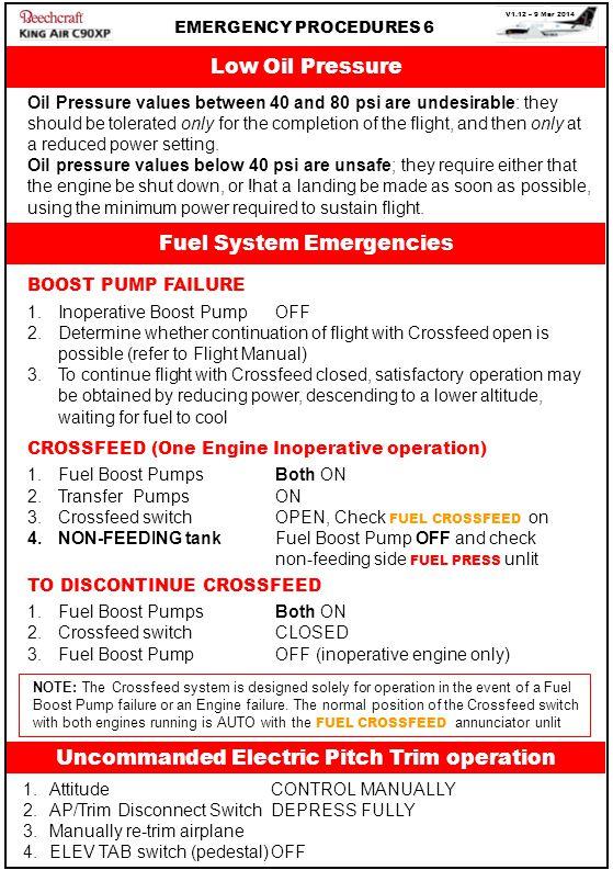 Fuel System Emergencies