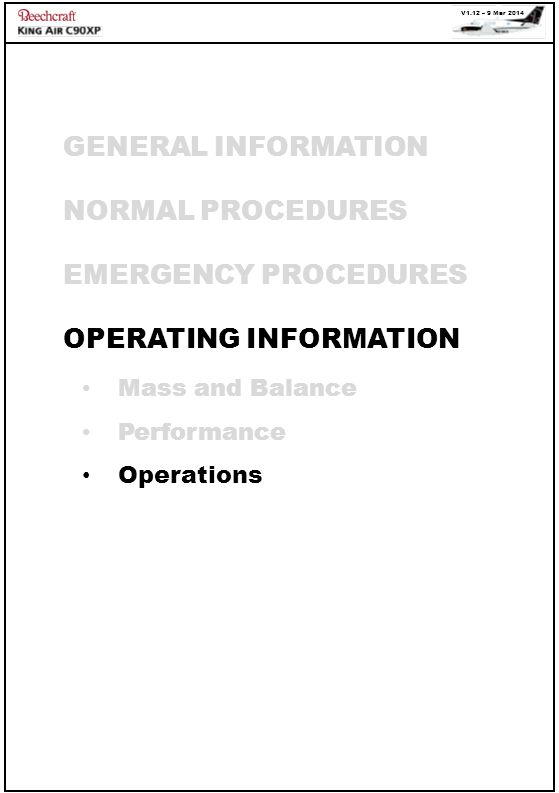 OPERATING INFORMATION
